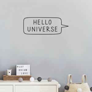 Hello Universe Wall Art Vinyl