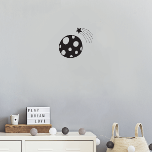 Polka Dot Planet Wall Art Vinyl