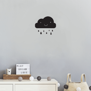 Cloud And Rain Wall Art Vinyl
