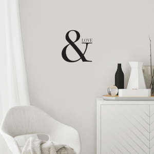 & Love Wall Decal