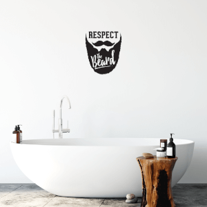 Respect The Beard Wall Decal