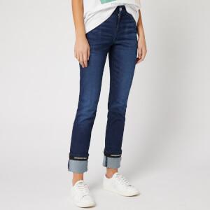 Emporio Armani Women's Cropped Cuff Jeans - Blue