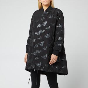 Emporio Armani Women's Logo Print Jacket - Black