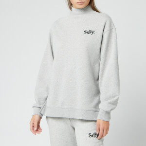 Superdry Women's Ana High Neck Crew Sweatshirt - Soft Grey Marl