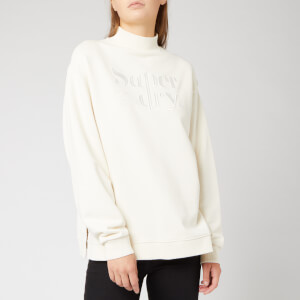 Superdry Women's Ana High Neck Crew Sweatshirt - Soft White