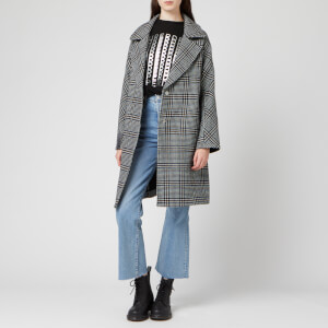 Superdry Women's Koben Wool Coat - Black Check
