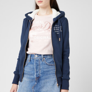 Superdry Women's Applique Zip Hoody - Navy