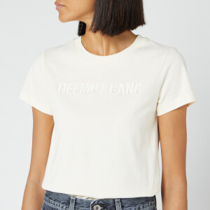Helmut Lang Women's Raised Embroidered Standard T-Shirt - Pearl
