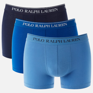 Polo Ralph Lauren Men's 3 Pack Classic Trunk Boxers - Sapphire Star/Bermuda Blue/Cruise Navy