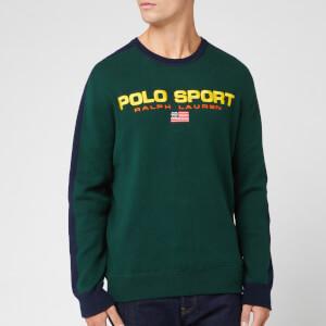 Polo Sport Ralph Lauren Men's Logo Knit Jumper - Forest/Navy