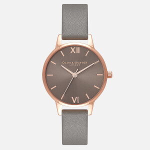 Olivia Burton Women's Midi Grey Dial Watch - Dark Grey and Rose Gold