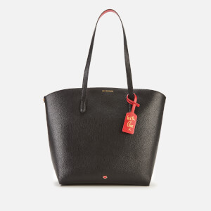 Lulu Guinness Women's Grainy Leather Agnes Tote Bag - Black