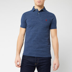 Polo Ralph Lauren Men's Slim Fit Short Sleeved Polo Shirt - Royal Heather