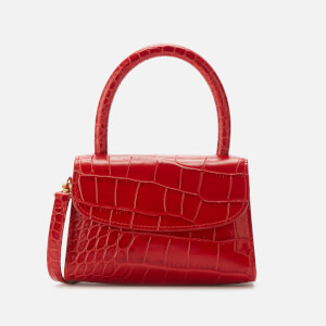 by FAR Women's Mini Croco Embossed Leather Tote Bag - Red