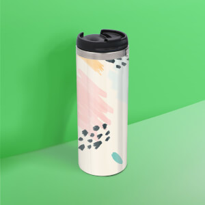 Scribble Pattern Stainless Steel Travel Mug