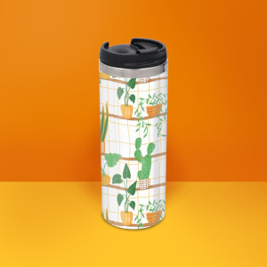 Botanical Pattern Stainless Steel Travel Mug