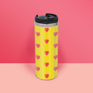 Love Heart Pattern Stainless Steel Travel Mug