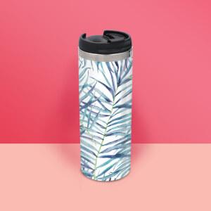Botanical Pattern Stainless Steel Travel Mug