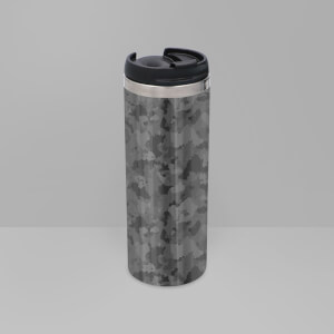 Mono Camo Stainless Steel Travel Mug