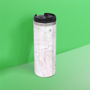 Pink And Grey Marble Stainless Steel Travel Mug
