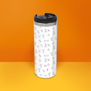 Willies Stainless Steel Travel Mug - Metallic Finish
