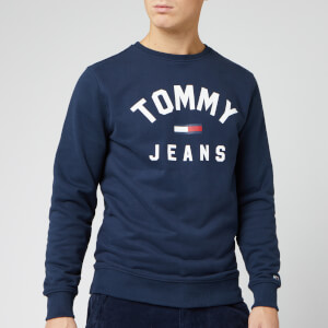Tommy Jeans Men's Essential Flag Crew Sweatshirt - Black Iris