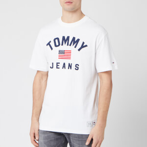Tommy Jeans Men's USA Flag T-Shirt - Classic White