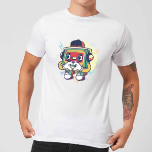 Cassette Tape Love Character Men's T-Shirt - White