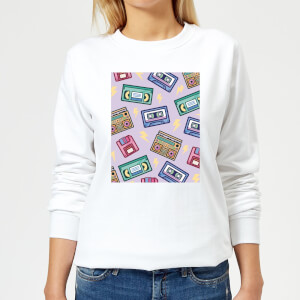 90's Product Scattered Pattern Women's Sweatshirt - White