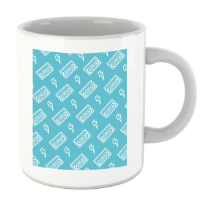 VHS Tape Pattern Blue Mug
