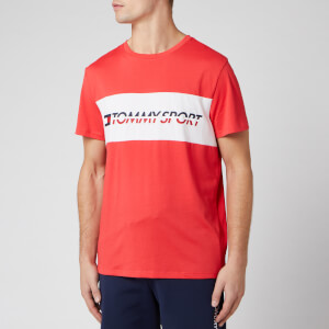 Tommy Sport Men's Short Sleeve Logo T-Shirt - Hibiscus Red