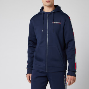 Tommy Sport Men's Full Zip Tape Fleece Hoody - Sport Navy