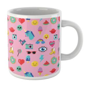 Pink 80s Stickers Mug