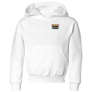 Small Tape Kids' Hoodie - White