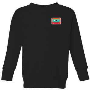 Small Cassette Tape Kids' Sweatshirt - Black