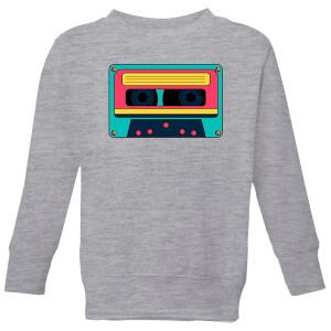 Cassette Tape Kids' Sweatshirt - Grey