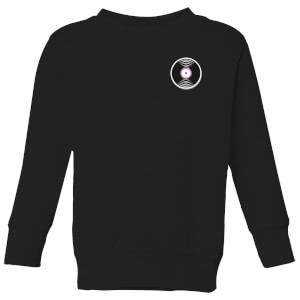 Small Vinyl Record Kids' Sweatshirt - Black