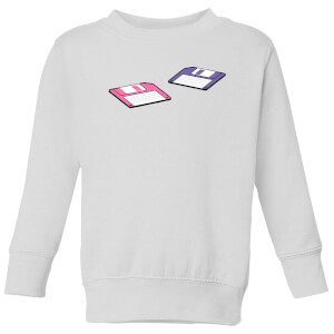 Floppy Disks Kids' Sweatshirt - White