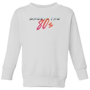 Made In The 80s Gradient Kids' Sweatshirt - White