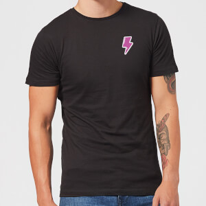 Small Lightning Bolt Men's T-Shirt - Black