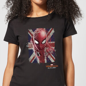 Spider-Man Far From Home British Flag Women's T-Shirt - Black