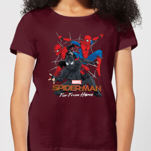 Spider-Man Far From Home Multi Costume Women's T-Shirt - Burgundy