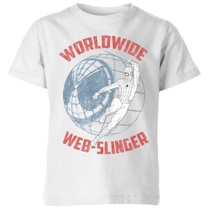 Spider-Man Far From Home Worldwide Web Slinger Kids' T-Shirt - White