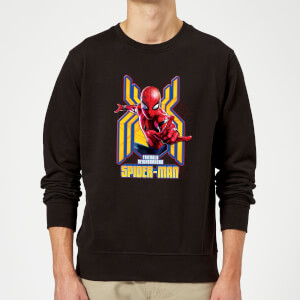 Spider Man Far From Home Friendly Neighborhood Spider-Man Sweatshirt - Black