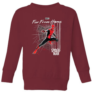 Spider-Man Far From Home Web Tech Kids' Sweatshirt - Burgundy