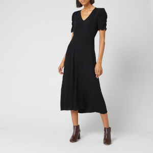 Whistles Women's Jolanta Midi Dress - Black