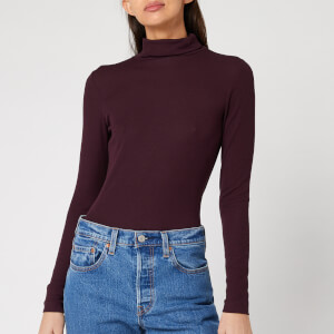Whistles Women's Essential Polo Neck Top - Burgundy