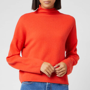 Whistles Women's Soft Roll Neck Wool Sweater - Flame