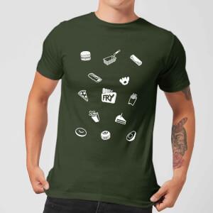 Does It Fry Pattern Men's T-Shirt - Forest Green