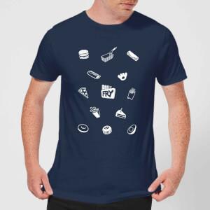Does It Fry Pattern Men's T-Shirt - Navy